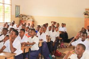 children in a school in tanzania