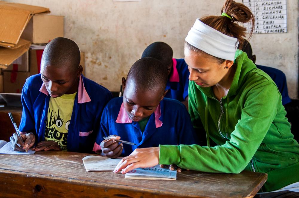 Lotte Kazembe students maths Opportunity Knocks