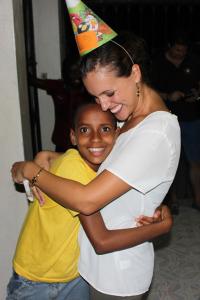 Molli and Happy Masuke hugging