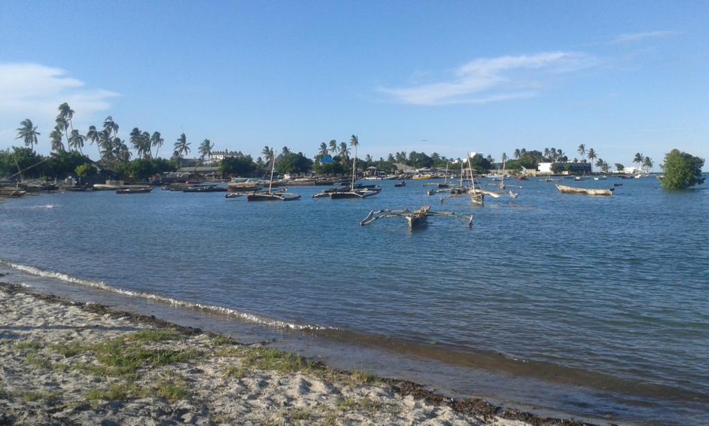 Indian Ocean views from the Kunduchi village