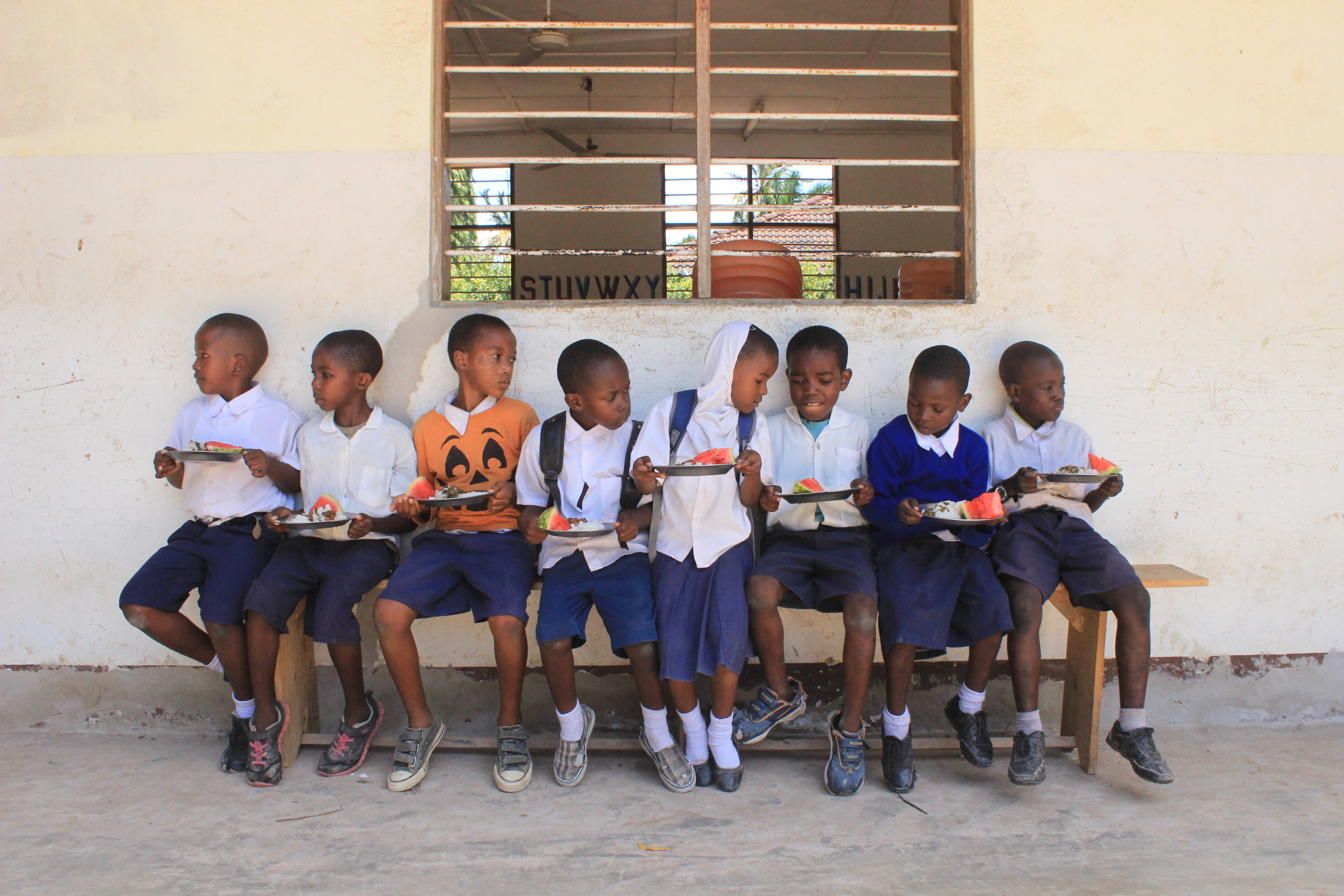 students at a school in Tanzania