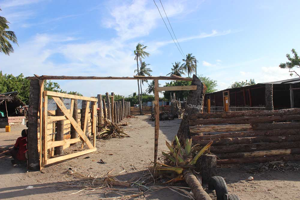 After receiving a donation from Jessica, we were able to start construction on the wall.